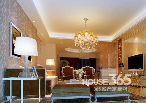 石膏板吊顶效果图:欧式风格的客厅