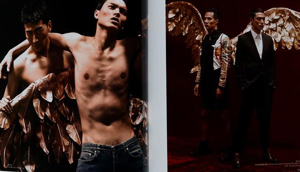 傅正刚《时装男士》时尚大片 撒旦之翼