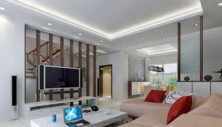 跃式客厅装修图片:中式客厅,楼梯下就是餐桌设计,实木打造生活家具