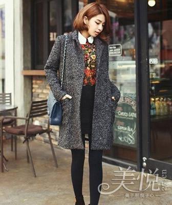 灰色毛呢裙搭配_冬季短裙如何搭配 让你穿出时髦优雅(1)_时尚_光明网(组图)-搜狐滚动