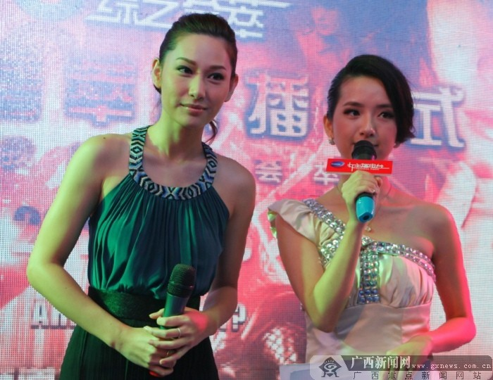 徐子珊空降南宁-东盟车展现场。广西新闻网记者 李广明摄