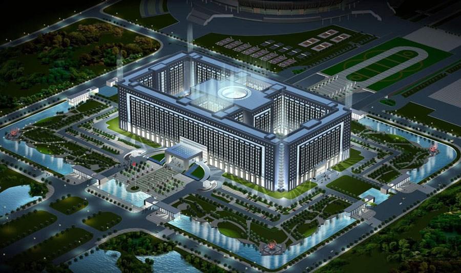 网友吐槽济南政府大楼 大小仅次于五角大楼[组图]