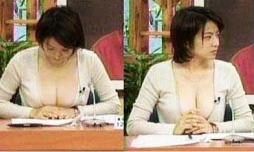 日本女主播一大早就穿成这样播报新闻,谁还有心思睡回笼觉了嘛。