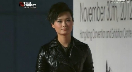 李宇春参加2012MAMA颁奖典礼红毯-2012MAMA颁奖礼红毯 群星斗艳