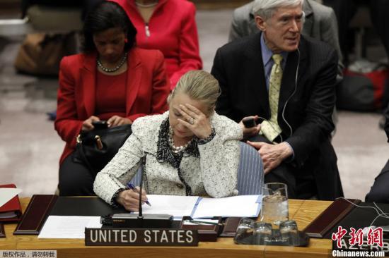 美国国务卿希拉里因病取消出访北非中东行程