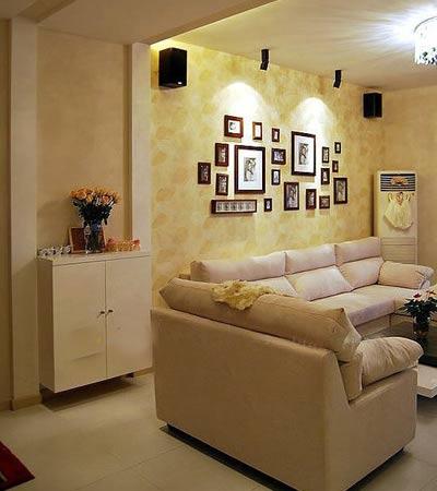 90平小复式装修效果图 12万成就暖黄色调婚房图片