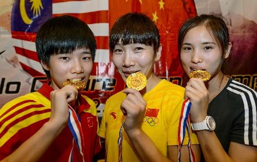 亚洲无码区大于500_图文:首届亚洲区跆拳道锦标赛 中国队咬金牌