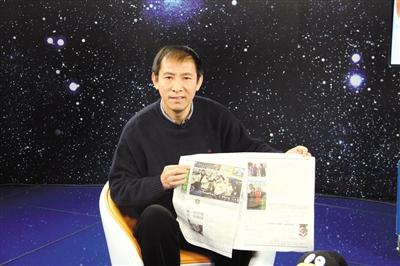 """胡建平昨日参加新京报体育与腾讯体育联手打造的""""国安20年""""访谈。"""