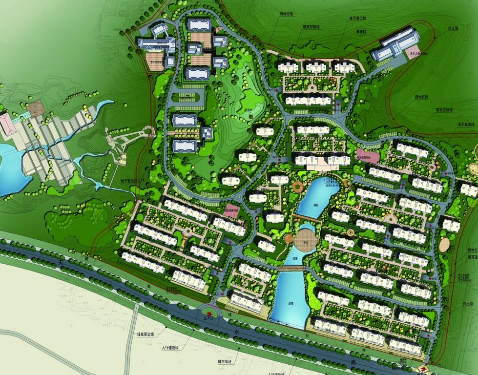 翠湖公园景观设计手绘