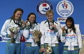 图文:短池世锦赛第三日赛况 澳大利亚女队合影