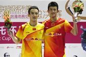 图文:2012羽联超级赛总决赛 谌龙和杜鹏宇