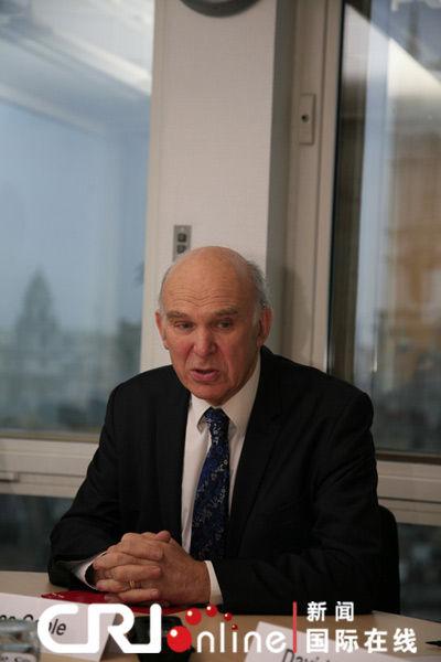 英国商业大臣坎布尔(摄影张哲)