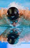 图文:游泳短池世锦赛 罗切特夺得金牌