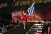 图文:K-1格斗大奖赛希腊站 性感美女引导员