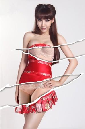 美女角色稞身照片张婉悠未经处理雅照上海稞拍女原图 竖