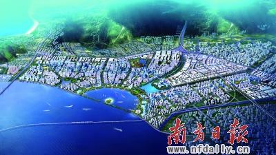 滨海智慧新城规划效果图