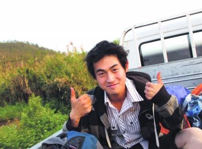 唐人立搭车去老挝的旅行没有花一分钱。图片由本人提供
