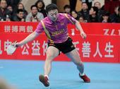 图文:乒超联赛第14轮赛况 马琳远台救球