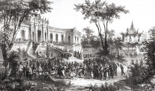 文物 返还 能量 正能量/随军画师所绘1860年圆明园内的英法联军