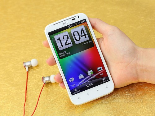 HTC Sensation XL 白色 正面图