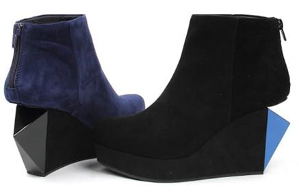 季深兰绒面羊皮女皮靴