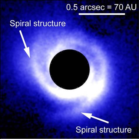 新生恒星周围都会被尘埃所环绕,而这些尘埃则被称为原行星盘