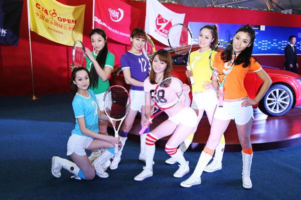 中国业余网球大师杯赛 外籍乐队现场表演