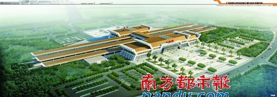 新东莞火车站整体鸟瞰图