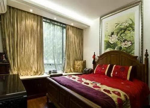 21款中式卧室装修效果图图片