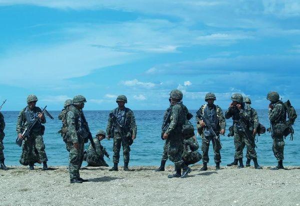 资料图:菲律宾海军陆战队。
