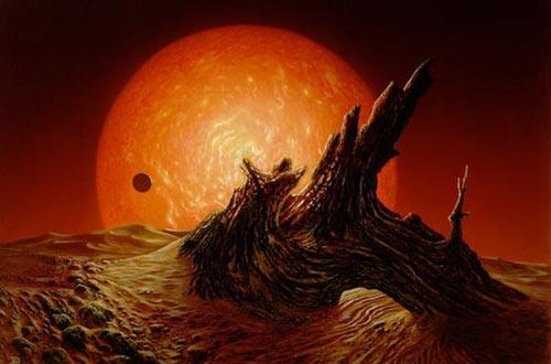 太阳最终会膨胀成为一颗红巨星,地球上生命最后的避难所将会是岩石圈。