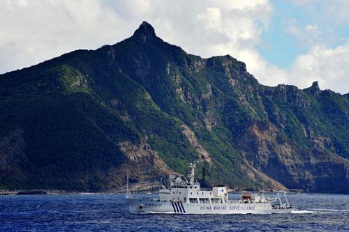 资料图:中国海监船在钓鱼岛巡航