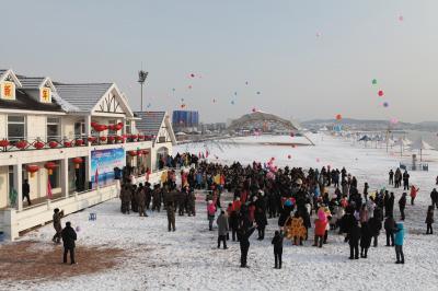 2013位市民金石滩放飞梦想(图)图片