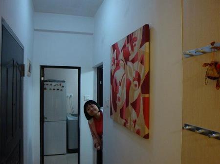 鞋柜过来,就是一进门的一副画,无数的猪,哈哈哈哈 高清图片