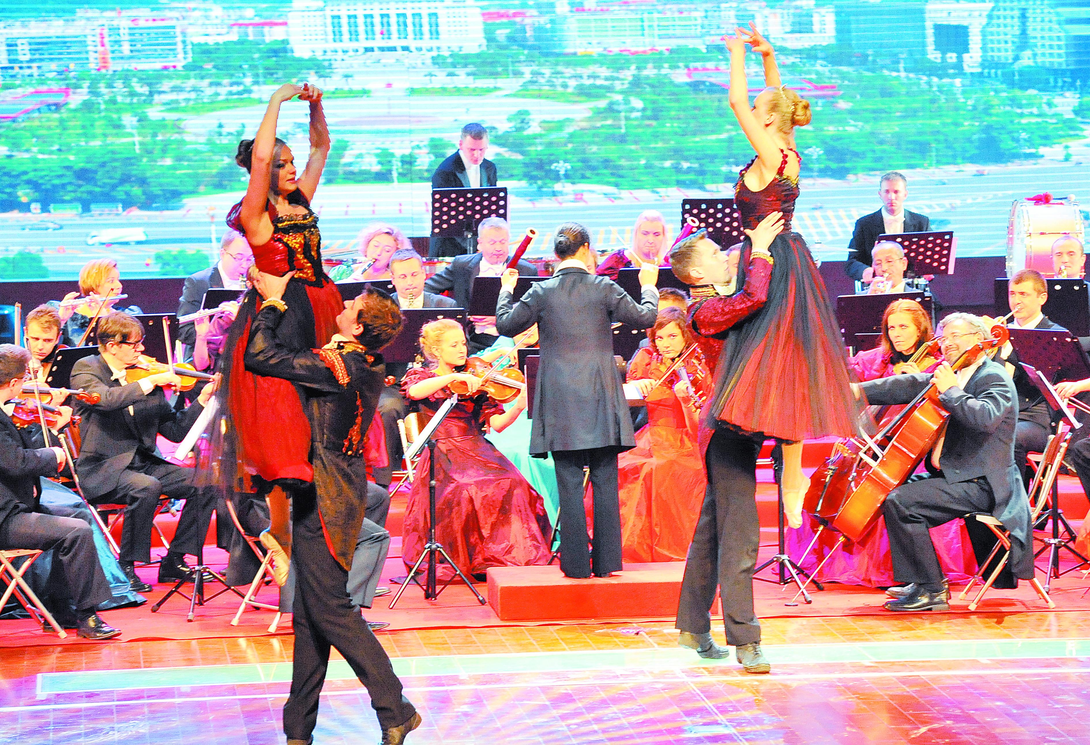 在华丽的舞台上,《皇帝圆舞曲》,《春之声圆舞曲》,《蓝色多瑙河圆