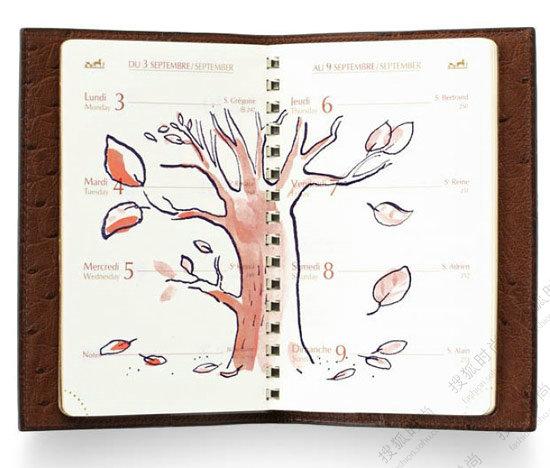 手绘童趣笔记本开启新年新计划