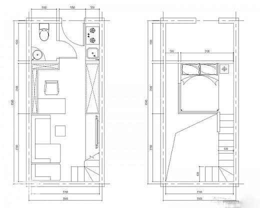 小编的话:最后献上整间公寓的平面图,包括跃层空间,颇具心思的设计
