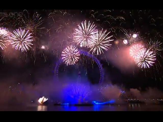 伦敦2013跨年烟火表演