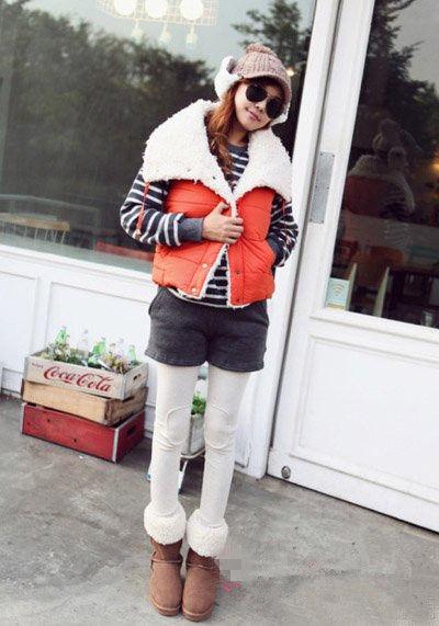 韩国女生街拍 教你冬季马甲怎么搭才有型 组图