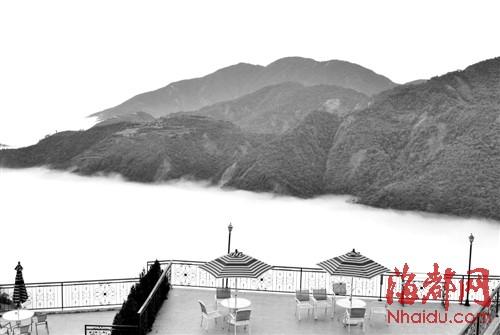 清境的民宿可以看到云海