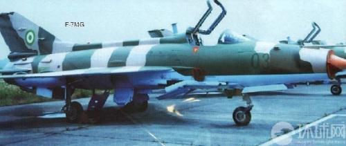资料图:尼日利亚空军准备的歼-7战机。