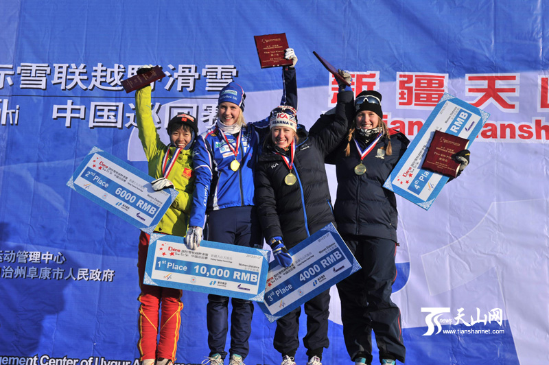 国际雪联越野滑雪中国巡回赛在天山天池举行