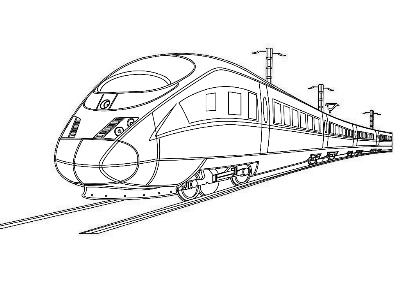 高铁座位情景图手绘