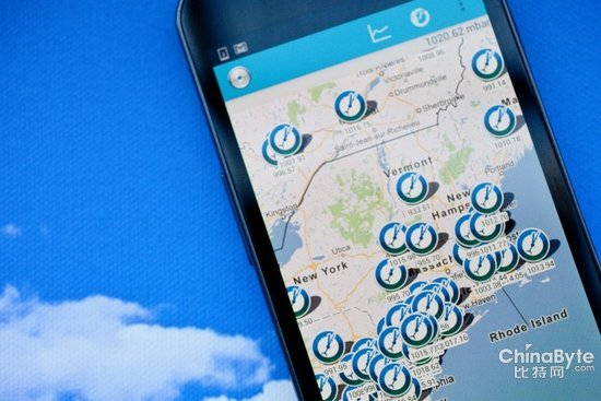 进行合作来利用他们正在从数以千计的android手机那里收集的气压信息图片