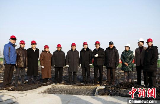 林军 北京 中国/1月10日,中国侨联主席林军在已完工的中国华侨博物馆主体建筑...