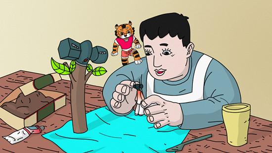 传统手绘动画片《瓷偶》