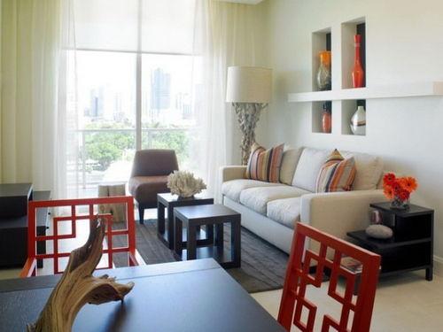 小户型客厅装修效果图 巧妙的摆设