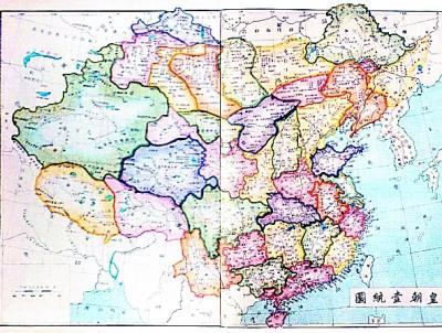 全盛时期清朝的版图,国土面积约1300万平方公里