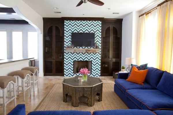 摩洛哥民族风室内设计 蓝色混搭风格家居(组图)