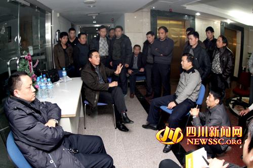 广元维权工作组看望讨薪农民工